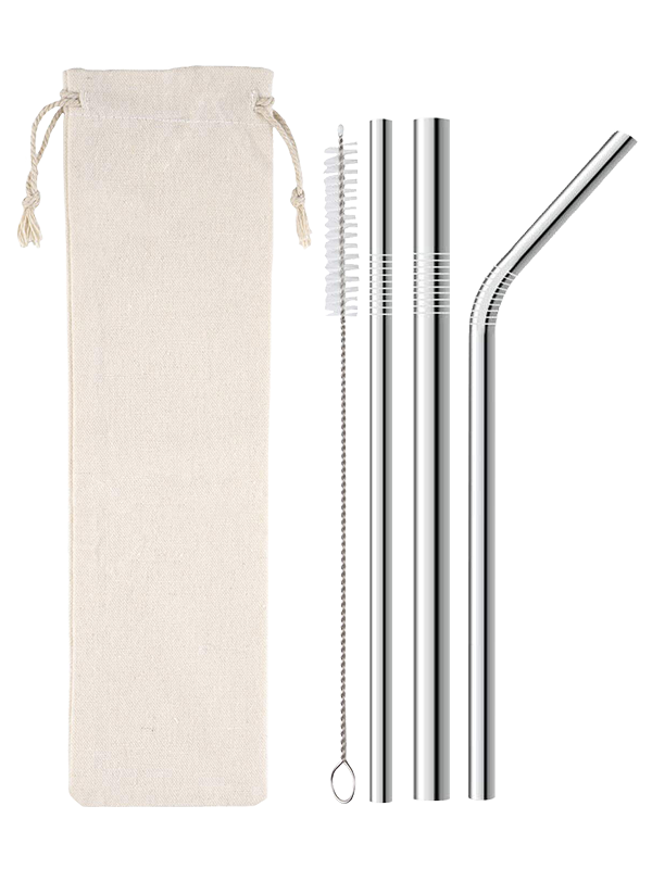 Picture of Variety Pack Metal Straws in Silver