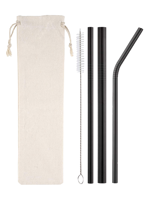 Picture of Variety Pack Metal Straws in Black